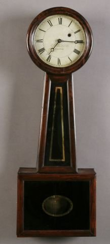401: Boston Mahogany  Banjo Clock by E. Howard.&Co.