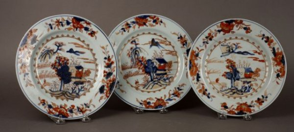 405: Three 18th Century Chinese Export Porcelain Plates
