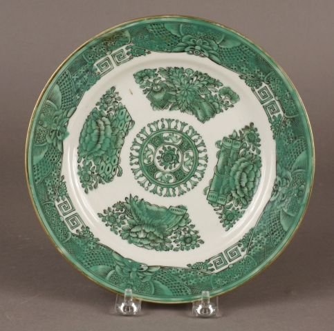 407: Chinese Export Green Fitzhugh Plate