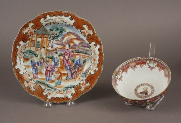 408:Two pieces of Chinese Export Famille Rose Porcelain