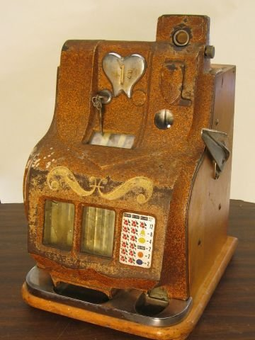 416: one cent wood and metal slot machine made by Mills
