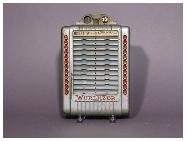 418: Early Wurlitzer wall mounted juke box music select