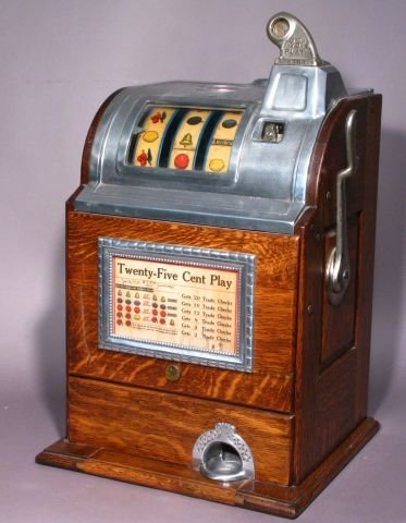 419: Twenty five cent slot machine by Jennings & Co.