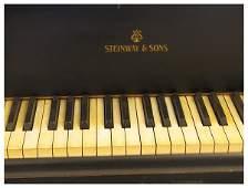 490A: Grand ebonized Steinway piano
