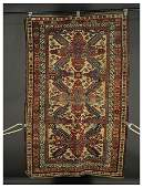 800B: Hand made Persian antique scatter rug