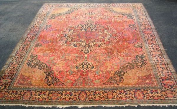 800S: Hand made Persian room size oriental carpet