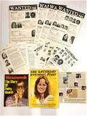 (16) PIECES RELATED TO PATTY HEARST