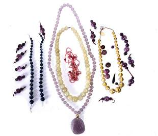 (8) ASIAN and WESTERN NECKLACES