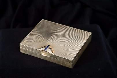 RETRO 14K GOLD TIFFANY and COMPANY CIGARETTE BOX