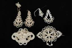 GROUP OF ANTIQUE SEED PEARL JEWELRY