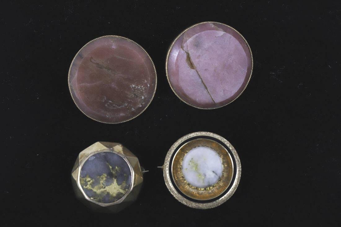 (4) PIECES OF VICTORIAN 14k GOLD JEWELRY