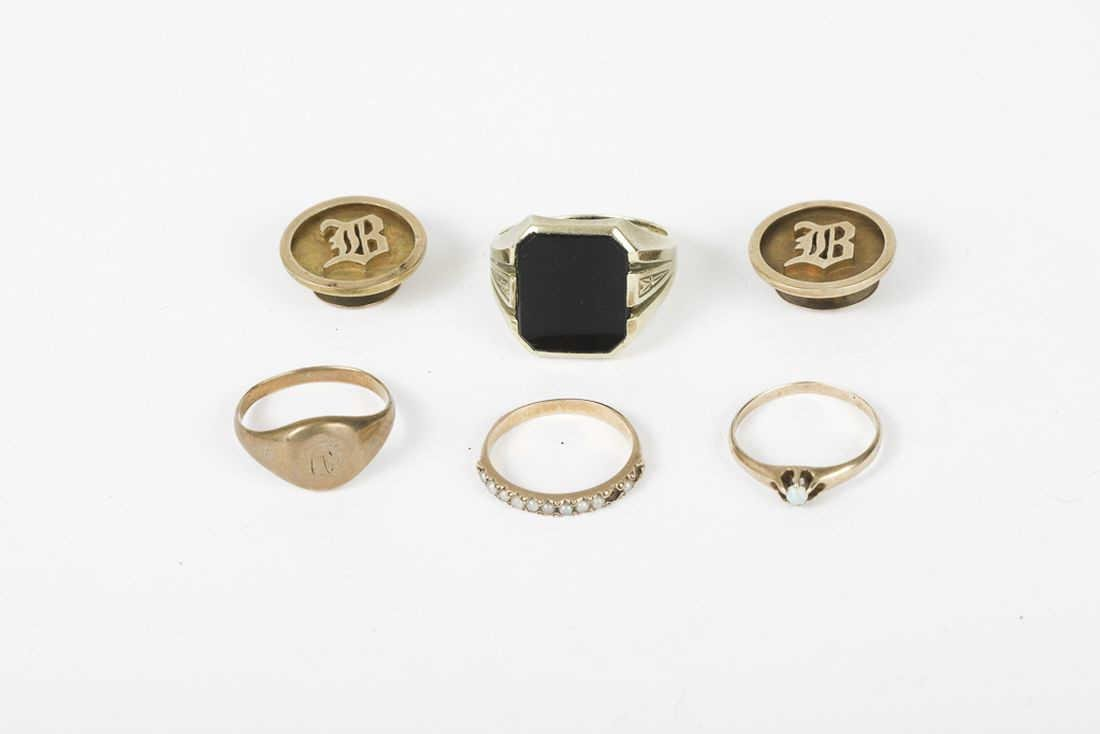 (6) PIECES OF GOLD JEWELRY