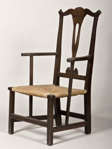 6: Coastal New England Chippendale arm chair