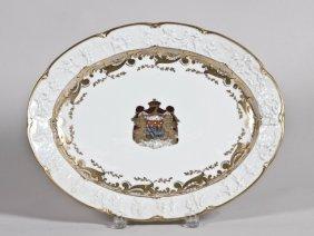 Italian Campo Di Monte Porcelain Armorial Platter.