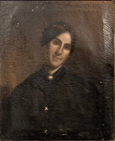 126: American School (19th century) Portrait of Harriet