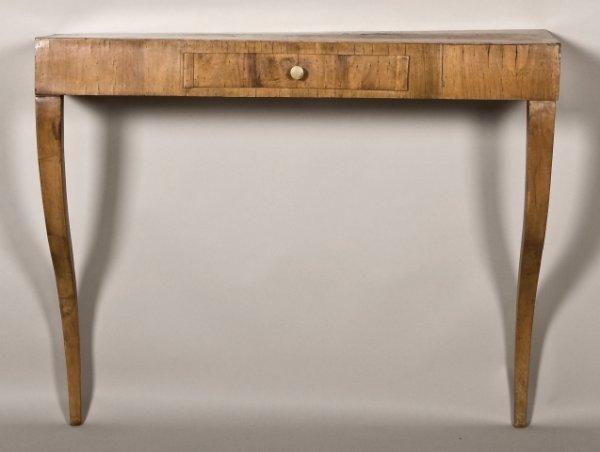 141: Biedermeier fruitwood wall console