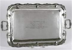 1976 HIRAM WOODRUFF STAKES STERLING SILVER TRAY