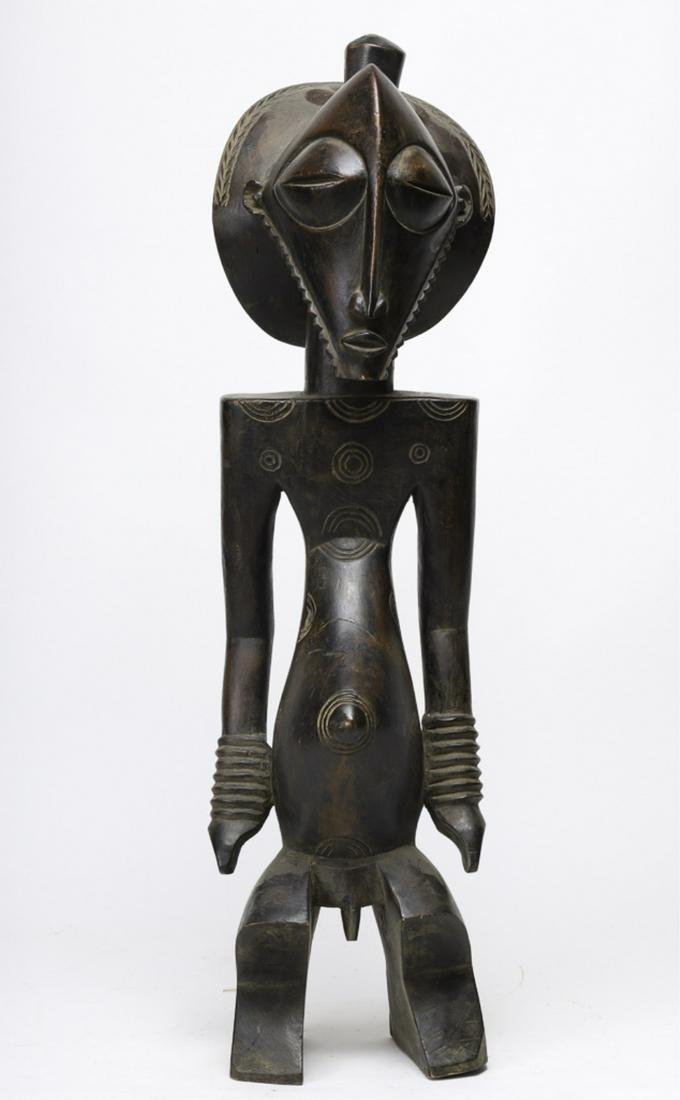 LULUA SOUTH CENTRAL DRC CARVED WOODEN STATUE