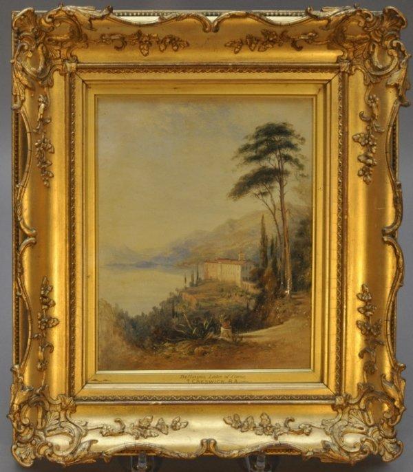 "7A: Thomas Creswick, British (1811-1869) ""Bellagio, Lak"