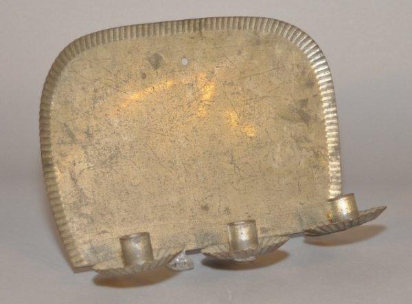 10: Tin three light wall sconce