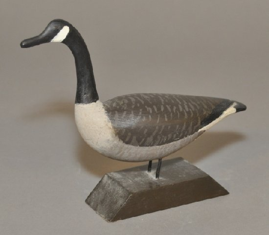 11: Miniature carved and painted Canadian goose from Pr