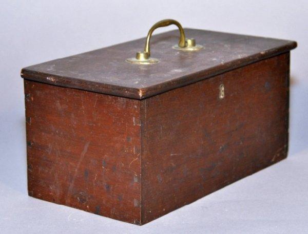 13: 18th century mahogany dovetailed document box with