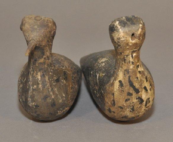15: Pair of 19th century decorated folk art shorebirds,