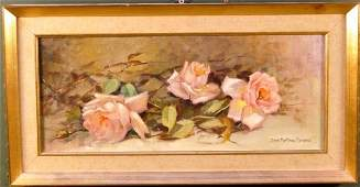 28 American School 20th century Still life with rose