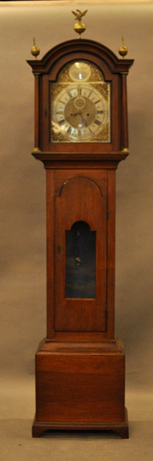 53: 18th century Newburyport tall case clock