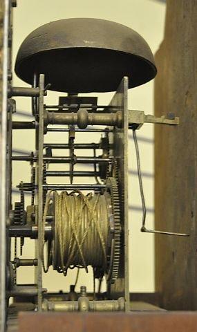 53: 18th century Newburyport tall case clock  - 5