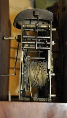 53: 18th century Newburyport tall case clock  - 6