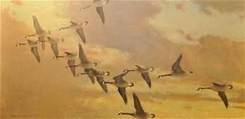 129A: Frank Vining Smith, American (1879-1967) Geese ov