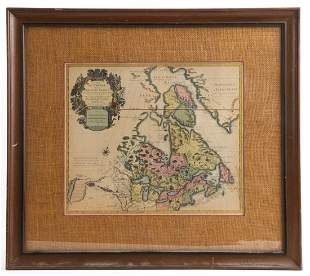 AFTER JEAN COVENS 1730 MAP OF CANADA NEW FRANCE