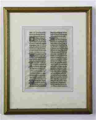 1380 AD FRENCH MISSAL / BIBLE LEAF