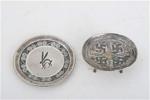 (2) NATIVE AMERICAN NAVAJO SILVER TRAYS