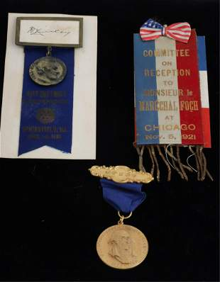 ROTARY CLUB, PHILLIPS ACADEMY & M. FOCH RIBBONS