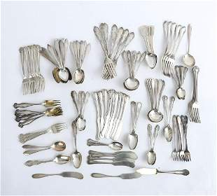 GROUPING OF STERLING SILVER FLATWARE VARIOUS MAKER