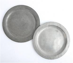 (2) PEWTER CHARGES - (1) MARKED ENGELS