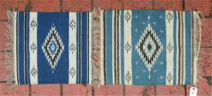 (2) WOOL RUGS IN THE NATIVE AMERICAN NAVAJO STYLE