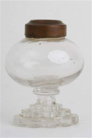 FREE-BLOWN & PRESSED WHALE OIL SPARKING LAMP