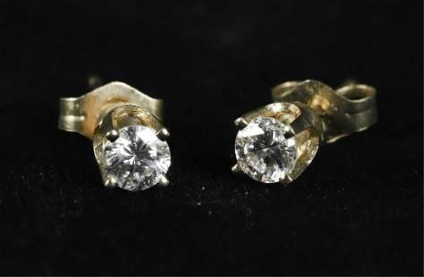 14k GOLD DIAMOND STUDDED EARRINGS