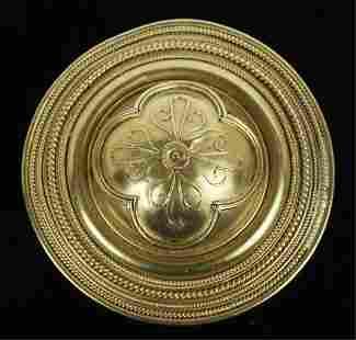 ETRUSCAN REVIVAL 22k GOLD BROOCH