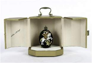 """THEO FABERGE ICON EGG """"ST. GEORGE and the DRAGON"""""""