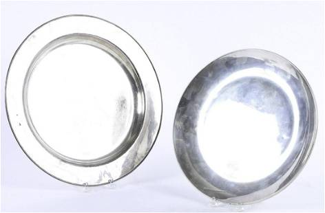 (2) STERLING SILVER PLATES