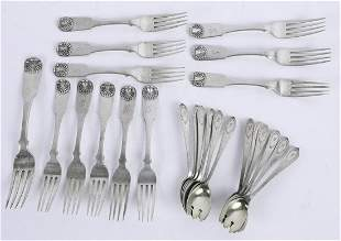 GROUPING OF STERLING SILVER SALAD/ ICE CREAM FORKS
