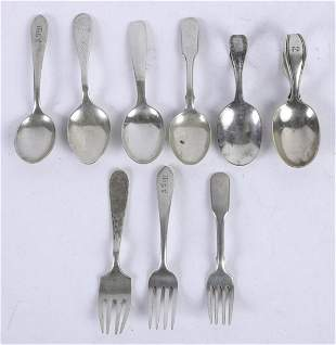 GROUPING OF STERLING SILVER JUVENILE FLATWARE