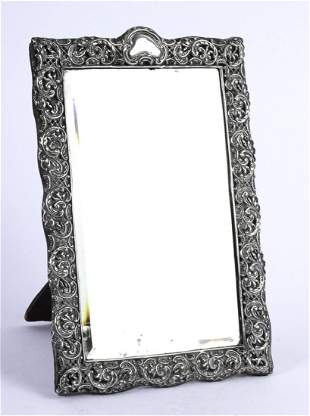 STERLING SILVER TABLE MIRROR