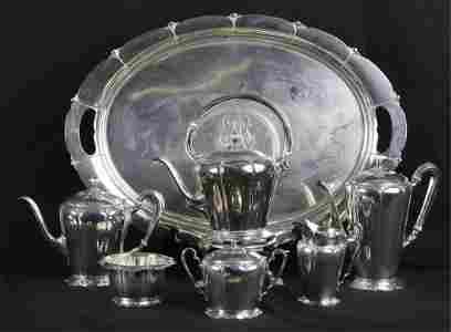 WATSON STERLING SILVER (7) PIECE TEA SERVICE
