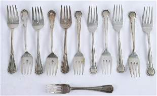 GROUPING OF STERLING SILVER SALAD FORKS