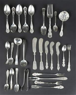 GROUPING OF STERLING SILVER FLATWARE